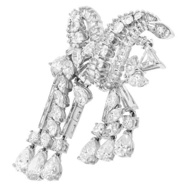 Diamond pin/brooch in platinum