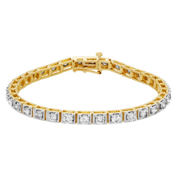 Diamond bracelet in 14k with over 5 carats