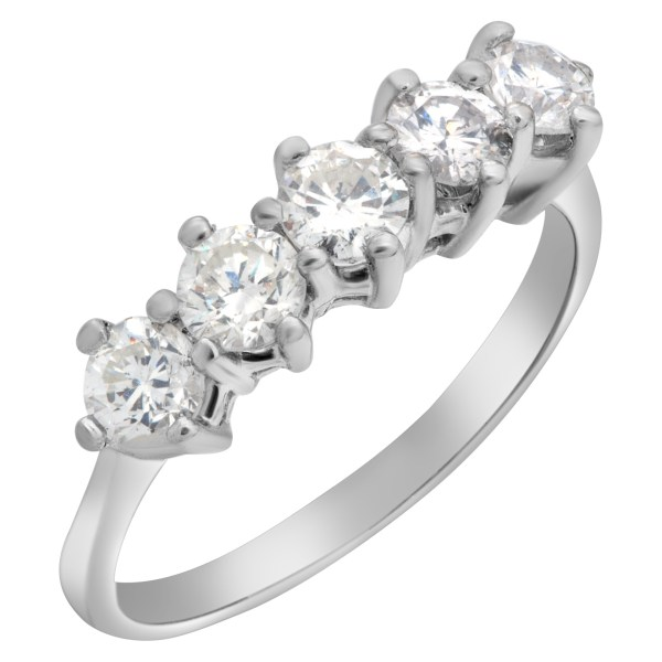 Diamond ring with approximately 1.15 carats in diamonds in 14k white gold
