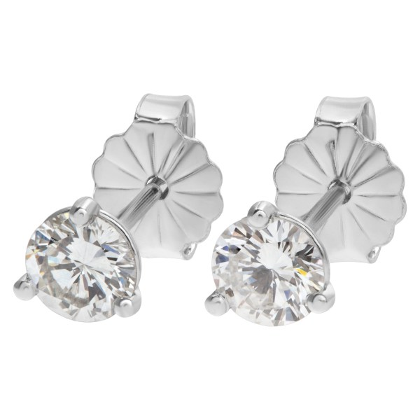 GIA diamond studs 0.33 carat (F color, VS2 clarity) and 0.33 carat (H color, VS2 clarity)