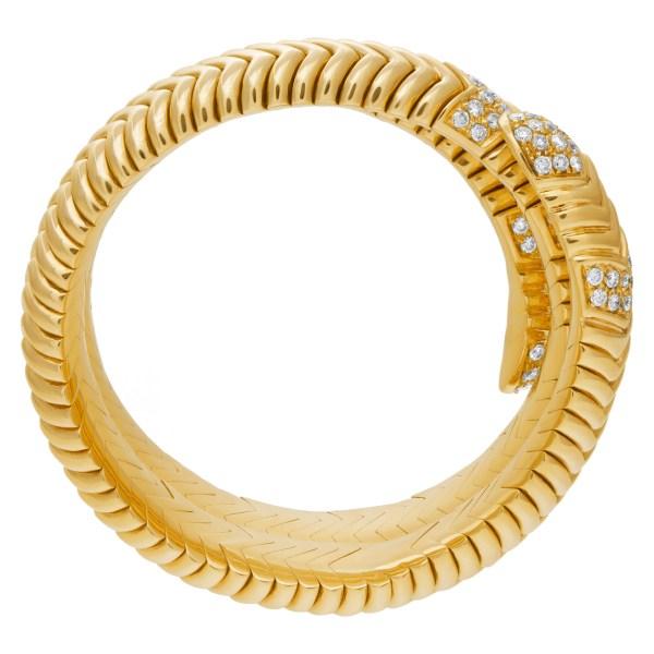 Wrap snake bracelet in 18k with over 4 carats in diamonds