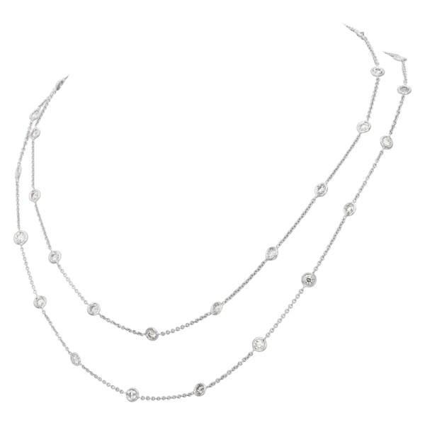"Bright & brilliant ""DIAMONDS BY THE YARD"" necklace in 18k white gold, over 3.50 carats in VS-SI diamonds."