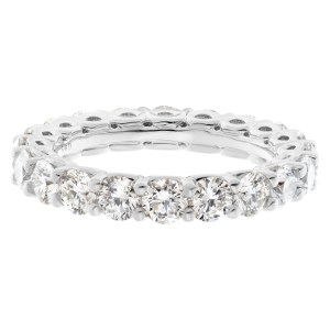 Diamond eternity band with approximately 2.20 carats