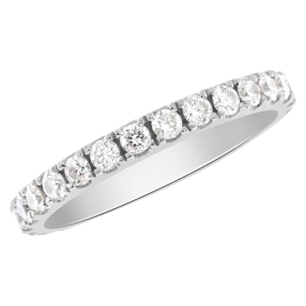 Diamond Eternity Band and Ring in 18k white gold
