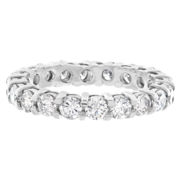 Diamond Eternity Band and Ring with 1.95 carats in diamonds set in platinum