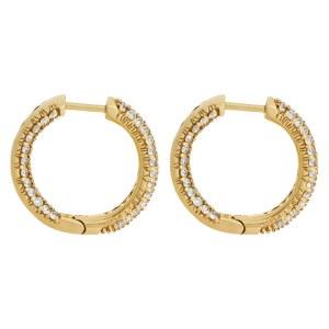 Diamond inside-out hoop earrings in 18k