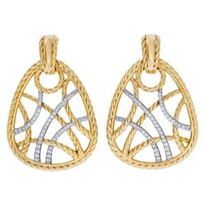 David Yurman Intricate earrings in 18k with diamonds