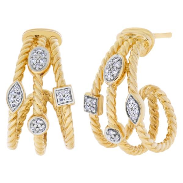 David Yurman Confetti earrings in 18k with diamonds