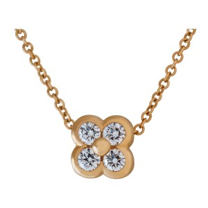 Tiffany & Co. Quatrefoil diamond necklace in 18k