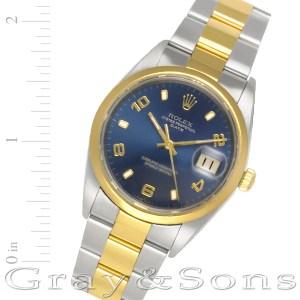 Rolex Date 15203 18k & steel 34mm auto watch