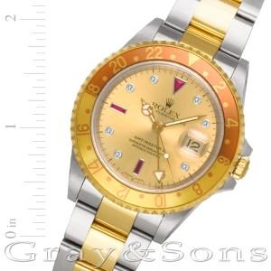 Rolex GMT-Master II 16713T 18k & steel 40mm auto watch