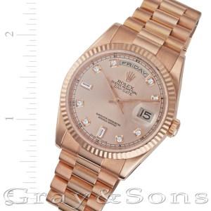 Rolex Day-Date 118235 18k rose gold 36mm auto watch