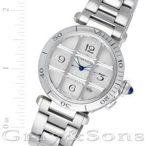 Cartier Pasha W31017H3 stainless steel 38mm auto watch