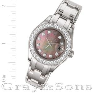 Rolex Pearlmaster 80299 18k white gold 29mm auto watch