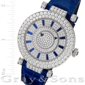Franck Muller Double mystery cd42 18k white gold 41.5mm auto watch
