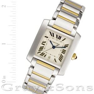 Cartier Tank Francaise W51005Q4 18k & steel 28mm auto watch