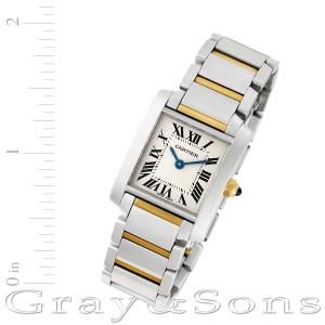 Cartier Tank Francaise W51007Q4 18k & steel 20mm Quartz watch