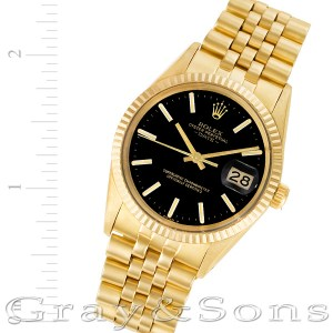 Rolex Date 1503 14k 34mm auto watch