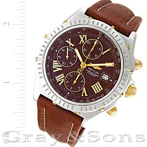 Breitling Chronomat b13055 stainless steel & gold plated mm auto watch