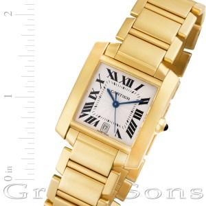 Cartier Tank Francaise W5001R2 18k 28mm auto watch