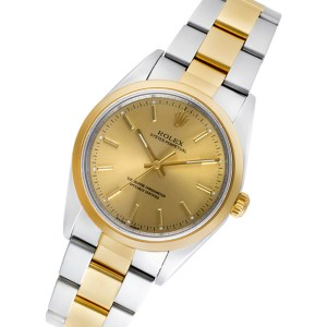 Rolex Oyster Perpetual 14203m 18k & steel 34mm auto watch