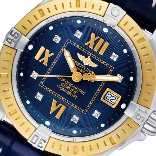 Breitling Chronometer d71356 18k & steel 31mm Quartz watch