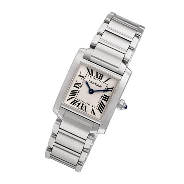 Cartier Tank Francaise W51008Q3 stainless steel 20mm Quartz watch