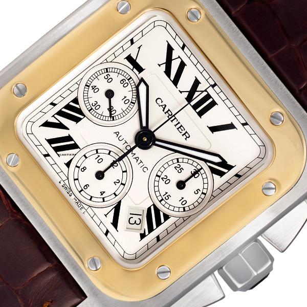 Cartier Santos 100 w20091x7 18k & steel 40mm auto watch