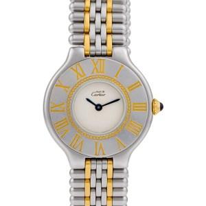 Cartier Must 21 gold & stainless steel mm Quartz watch