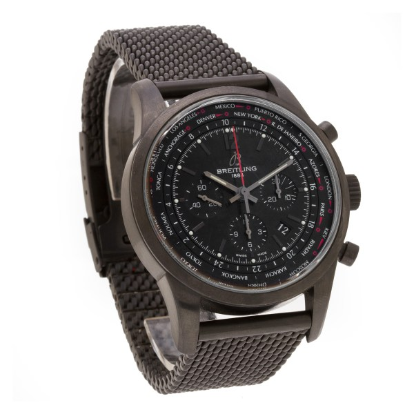 Breitling Transocean mb0510 black pvd 46mm auto watch
