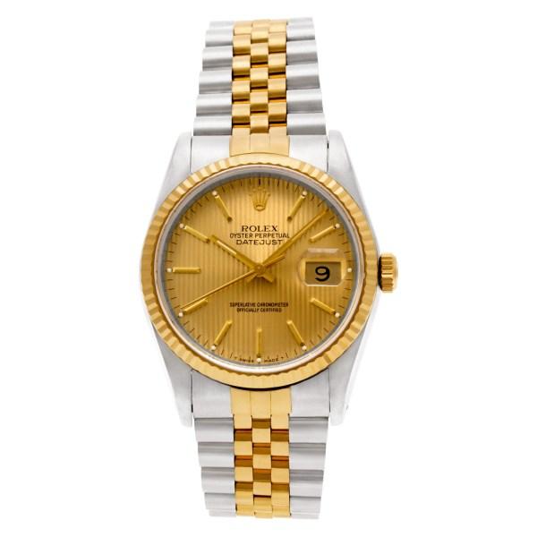 Rolex Datejust 16233 18k & steel 36mm auto watch