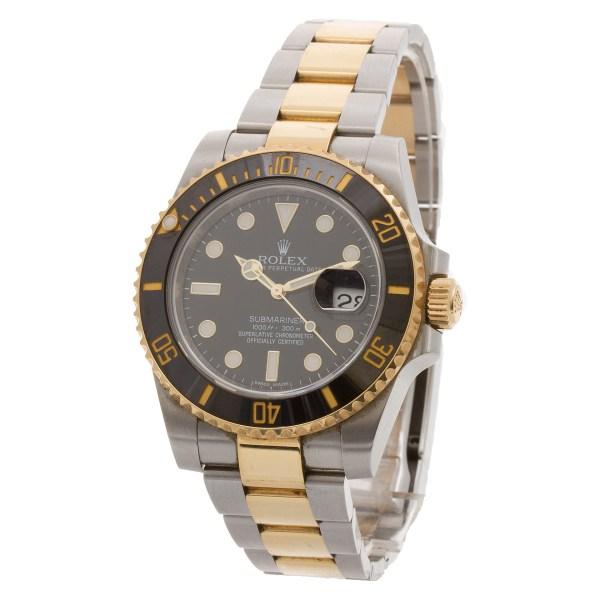 Rolex Submariner 116613LN 18k & steel 40mm auto watch