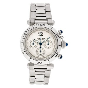 Cartier Pasha Chronograph W31018H3 stainless steel 38mm auto watch