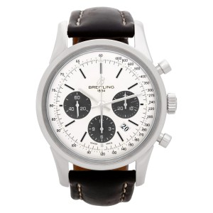Breitling Transocean Chronograph AB0152 stainless steel 43mm auto watch