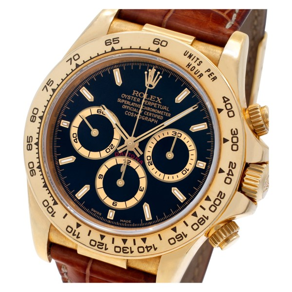 Rolex Daytona 16518 18k Black dial 40mm Automatic watch