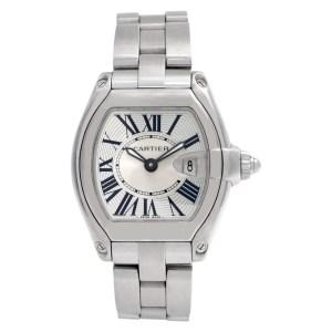 Cartier Roadster 2675 Stainless Steel Silver dial 30mm Quartz watch