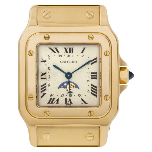 Cartier Santos 0658 18k Ivory dial 29mm Quartz watch