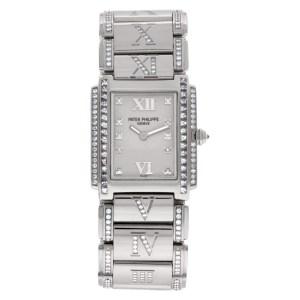 Patek Philippe Twenty 4 4910/41 18k White Gold Silver dial 24.5mm Quartz watch
