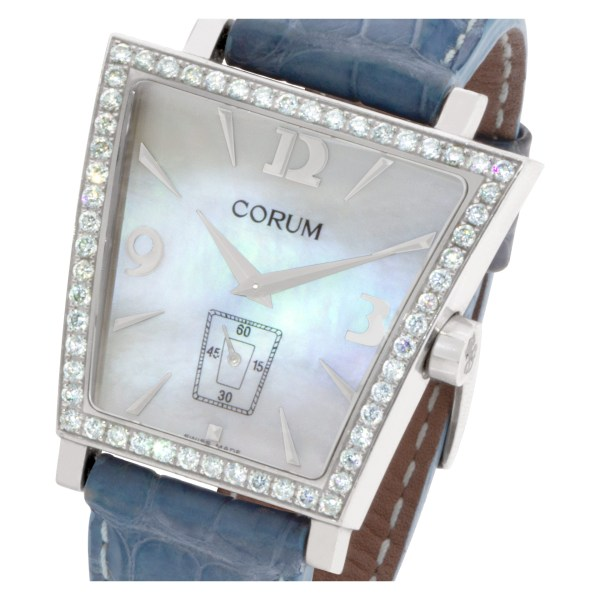 Corum Trapeze 106.404.47/0008 PM52 Stainless Steel Mother of Pearl dial 40mm Qua