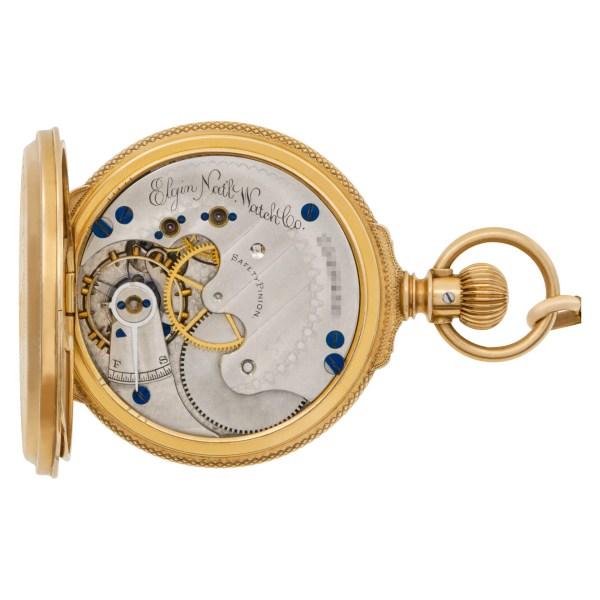 Elgin pocket watch 14k Porcelain dial 40mm Manual watch