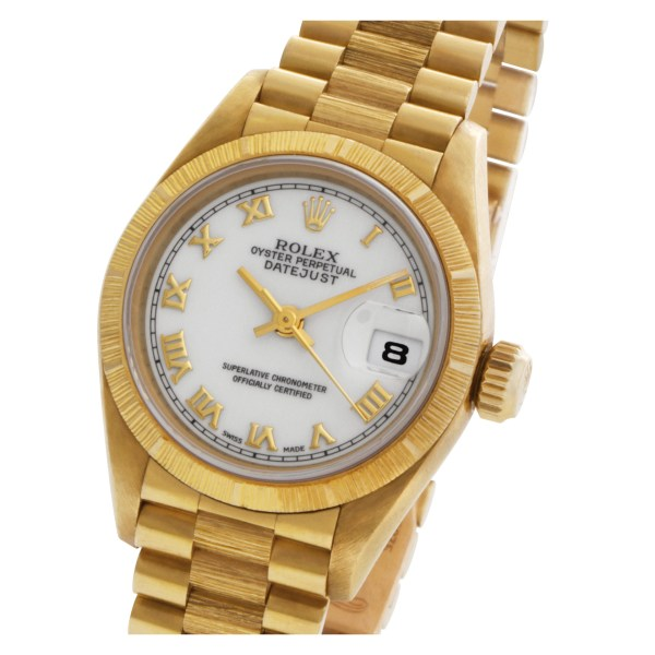 Rolex Datejust 69278 18k bark finish White dial 26mm Automatic watch