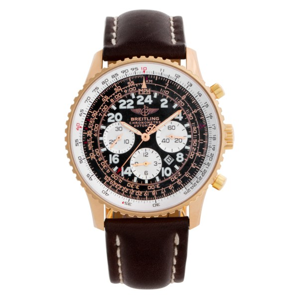 Breitling Cosmonaute r22322 18k rose gold Black dial 41.5mm Automatic watch