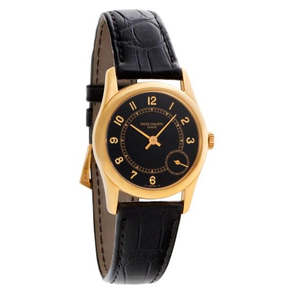 Patek Philippe Calatrava 5000j 18k Black dial 33mm Automatic watch