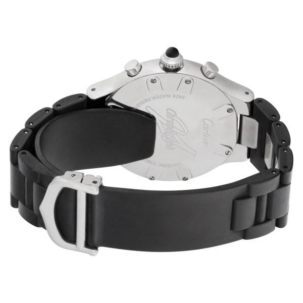 Cartier    Chronoscaph 21 W31018H3    Stainless Steel    Black dial 38mm    Quar