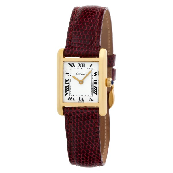 Cartier Tank 5512106 18k Gold Fill Off White dial mm Manual watch