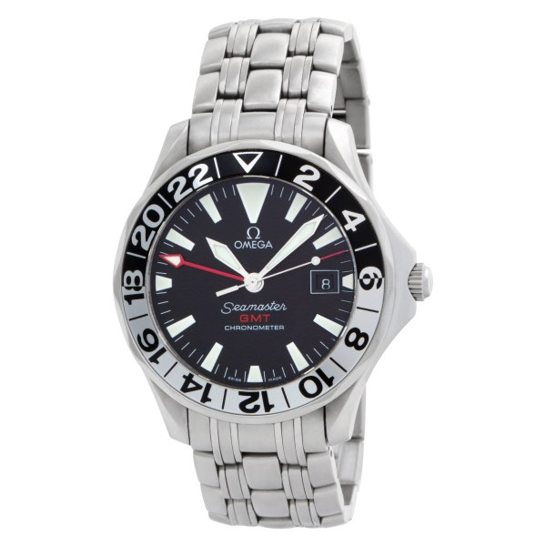 Omega Seamaster GMT  25345000 Stainless Steel Black dial 41mm Automatic watch