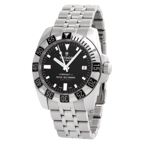 Tudor Hydronaut Ii 20030 Stainless Steel    Black dial mm Automatic watch