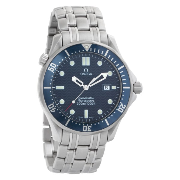 Omega Seamaster 25418000 Stainless Steel Blue dial 41mm Quartz watch