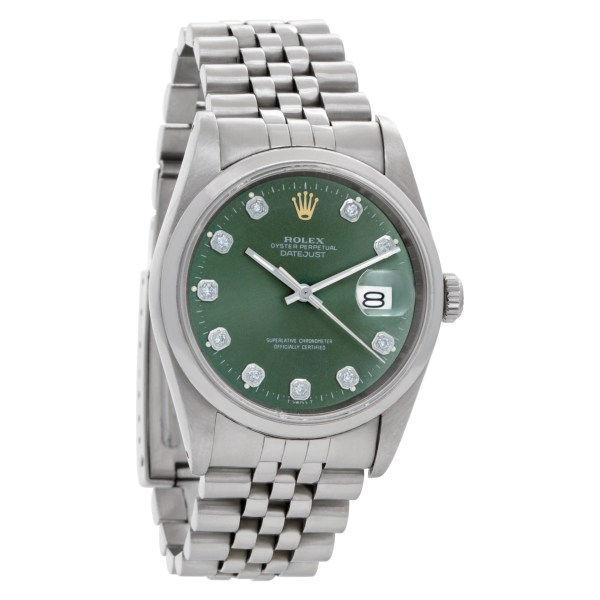 Rolex Datejust 16200 Stainless Steel Green dial 36mm Automatic watch