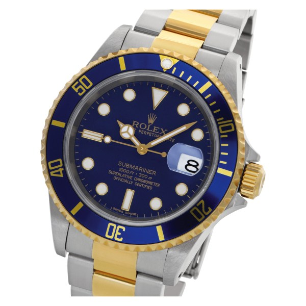 Rolex Submariner 16613 Stainless Steel Blue dial 40mm Automatic watch